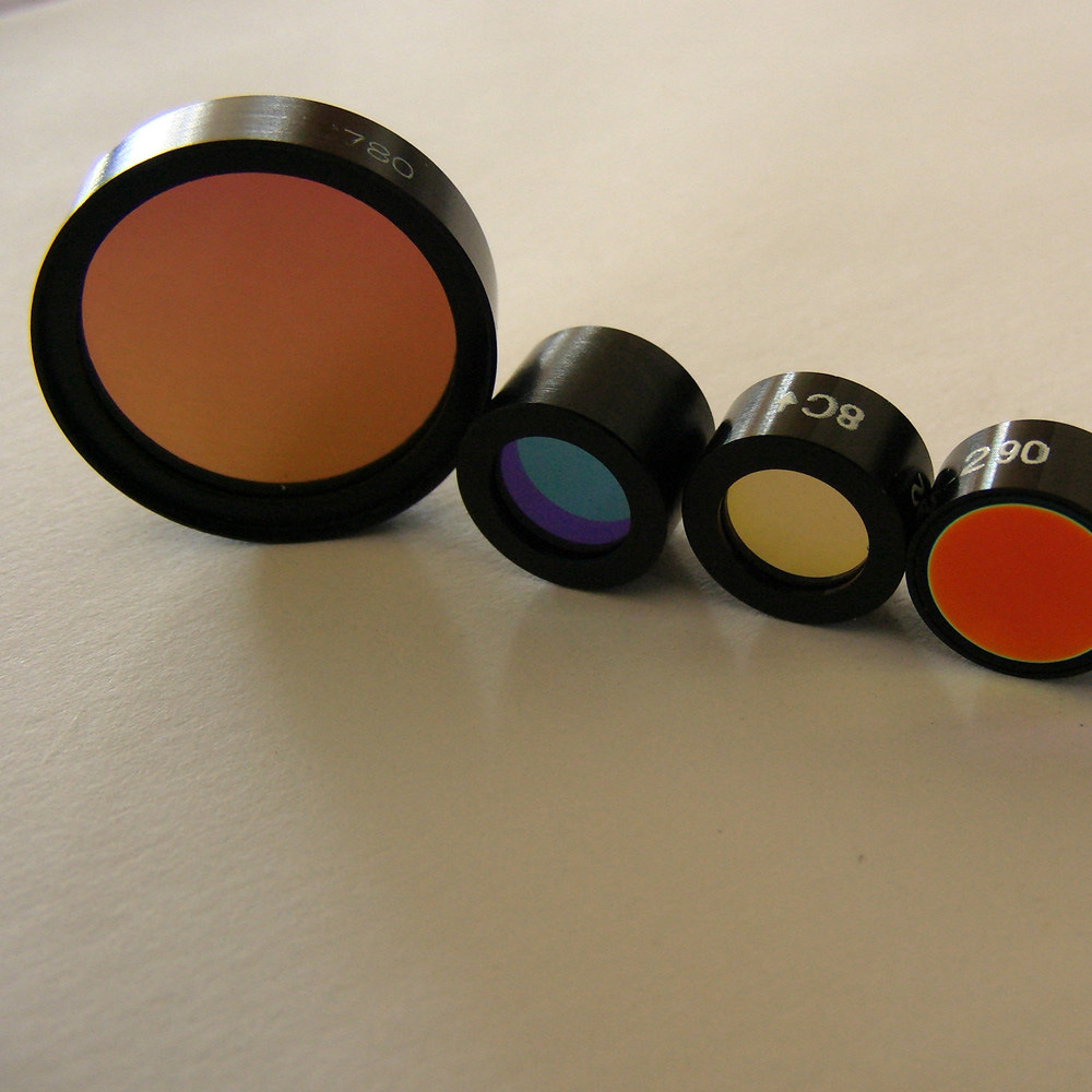 Giai High Transmission Fused Silica Mounted Color Optical Filter