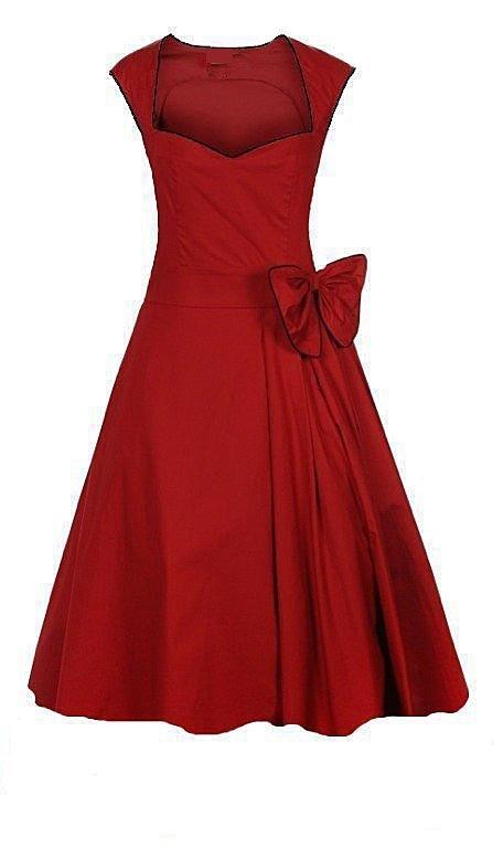 Women′s UK Vintage Designer Style Prom Wedding Guests Red Dresses