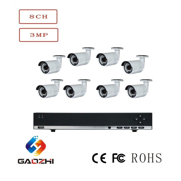CCTV 2MP/3MP/4MP Security System NVR Kits with Poe Camer and DVR