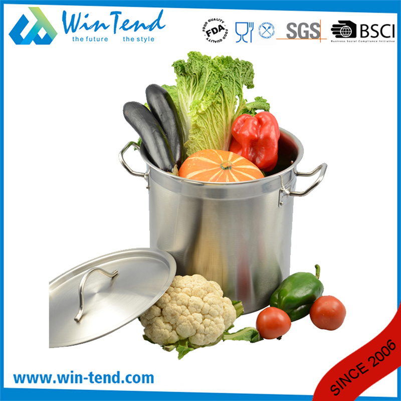 05 Style Stainless Steel Sanded Heat Conduction Combine Bottom Soup Stock Pot