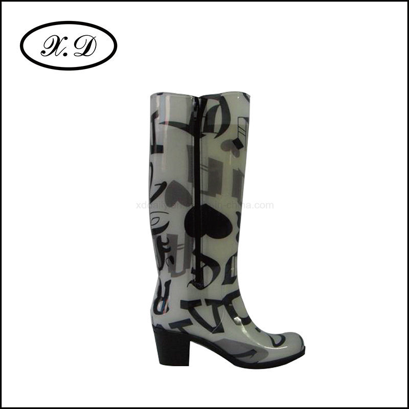 High Upper Rain PVC Boot for Women (BX-048)