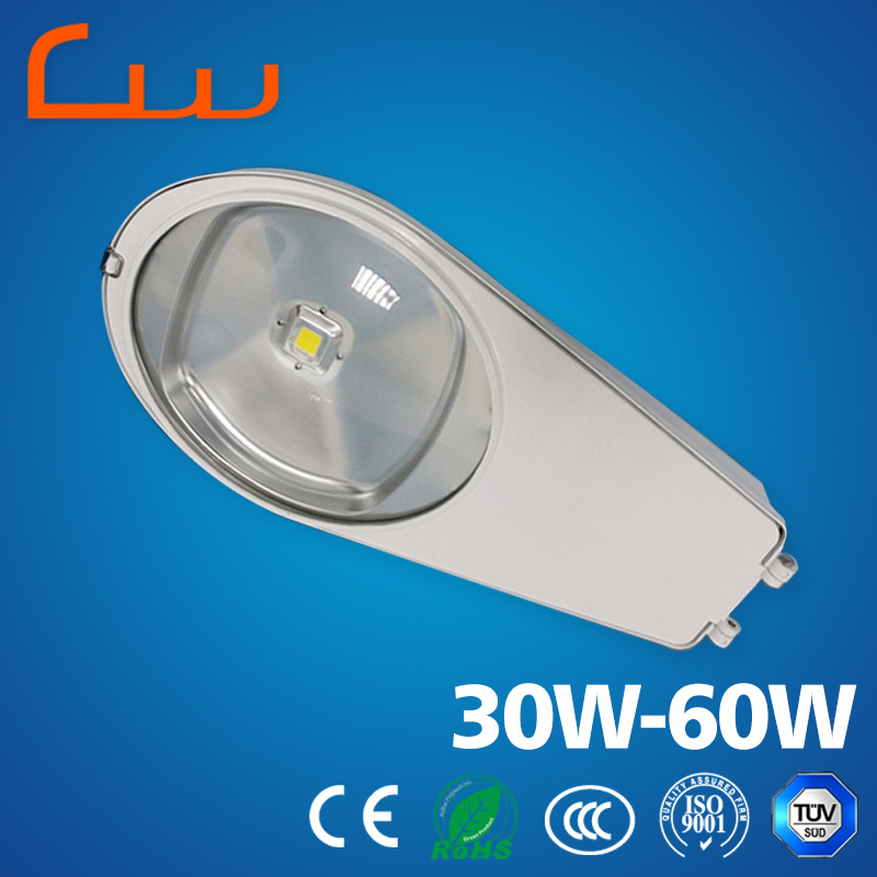 Outdoor 30W 40W 50W 60W Aluminum LED Street Light Housing