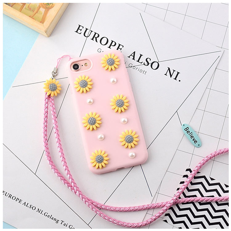 Pink Cute Design TPU Phone Case for iPhone 7 Plus