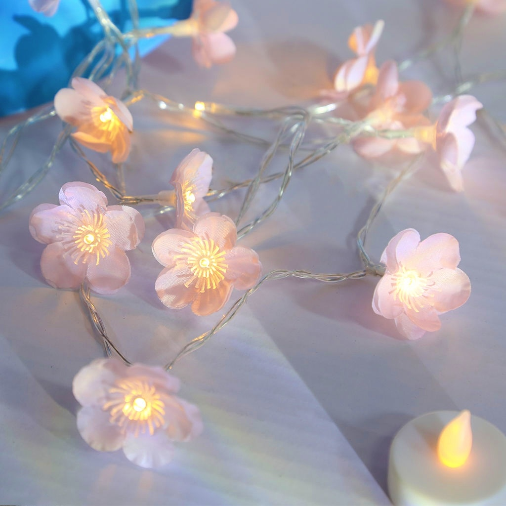 Bedroom Decoration Plum Blossom Fairy String Lights LED Lights Battery Operated