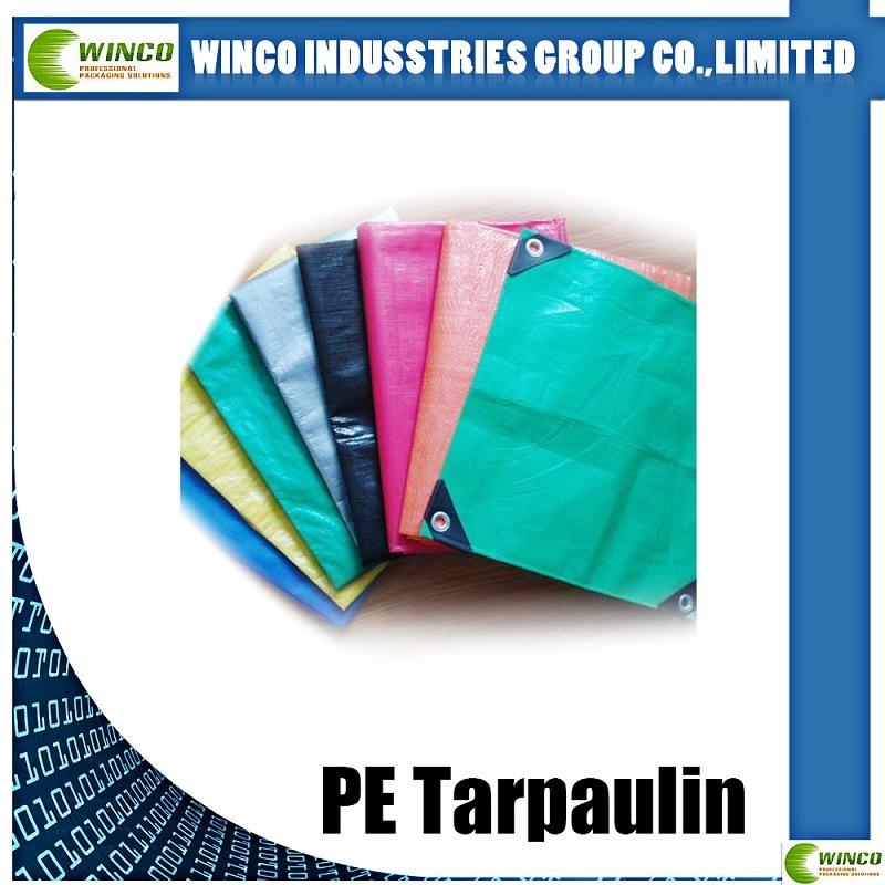 160GSM Tarp PE Tarpaulin with UV Treated PE Tarps for Car /Truck / Boat Cover