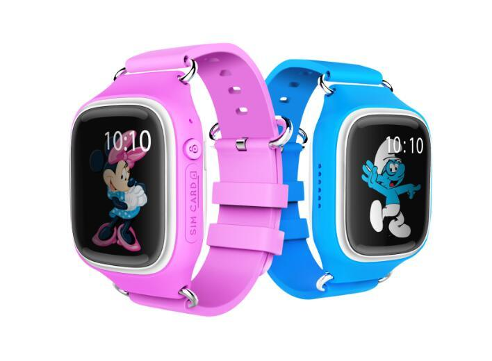 Kids Phone Watch GPS Tracker - GPS + Lbs + Wi-Fi Positioning Modes, Pedometer