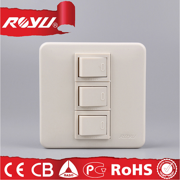 3*3 Inch Module Type Fast Way Wall Switch