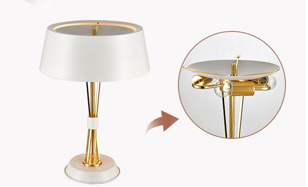 So Wonderful Design Gold & Black Modern Reading Desk Table Light Lamp for Bedside/Bedroom