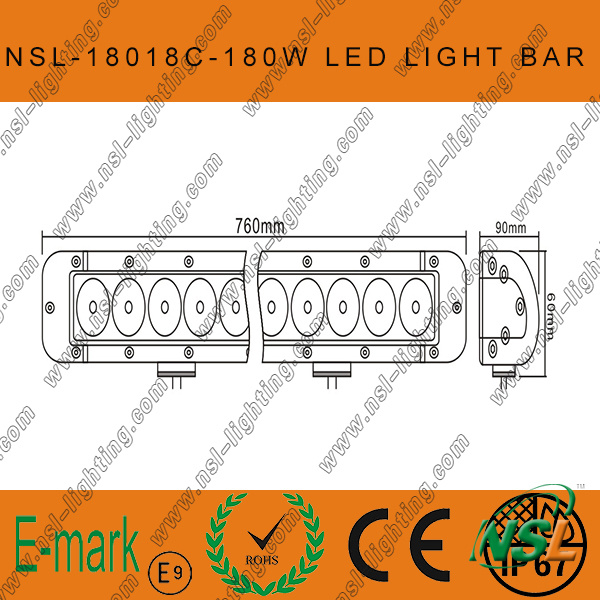 30inch CREE 180W Offroad Working Light Bar LED Work Light Bar