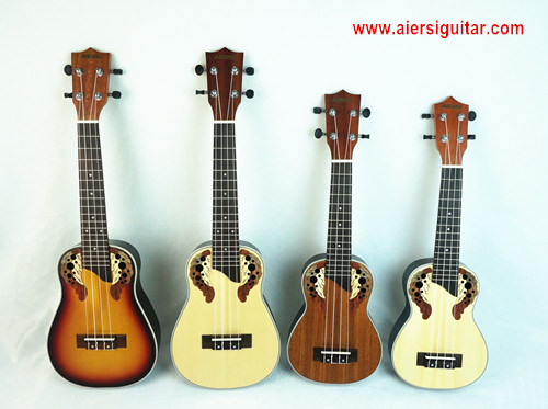 Aiersi Quality Colour Ovation Ukulele Available for Soprano and Concert