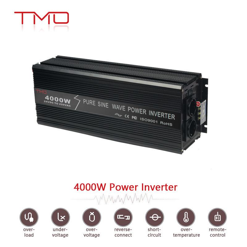 Factory Price 4kw 4000 Watt 12V 220V DC AC Car Power Inverter 4000W off-Grid Pure Sine Wave Inverter for Solar Power System