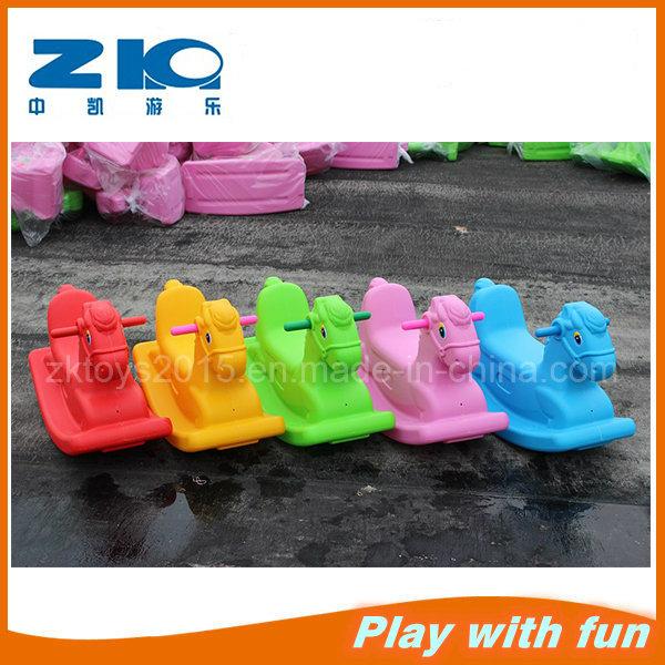 Indoor and Outdoor Colorful Horse Plastic Rider for Kindergarten