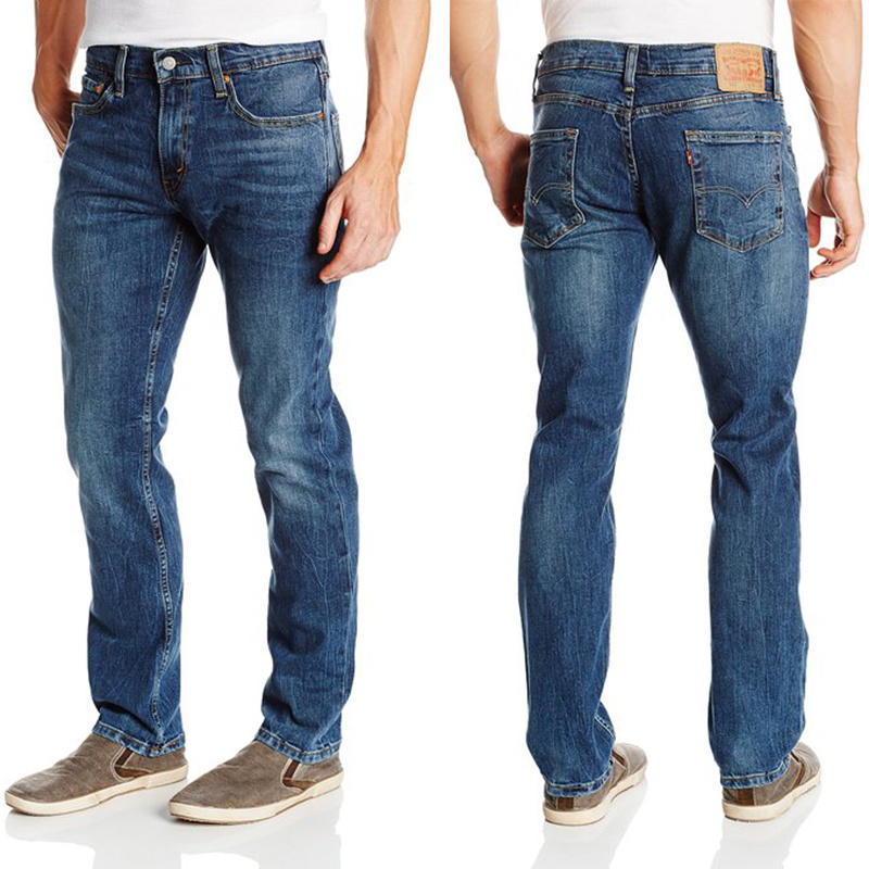 New Classic Men Stylish Pants Straight Slim Fit Denim Jeans