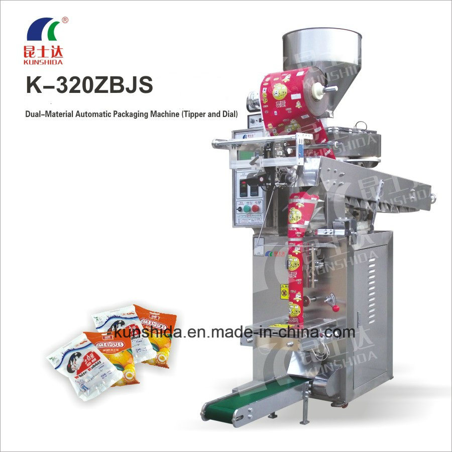 Packing Machine for Dual Materials with Rotary and Tipping Bucket