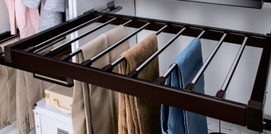 Wardrobe Soft Close Pants Rack Soft Close