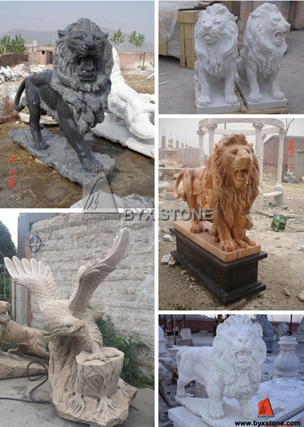 Natural Granite Carved Stone Sculpture for Garden Ornament