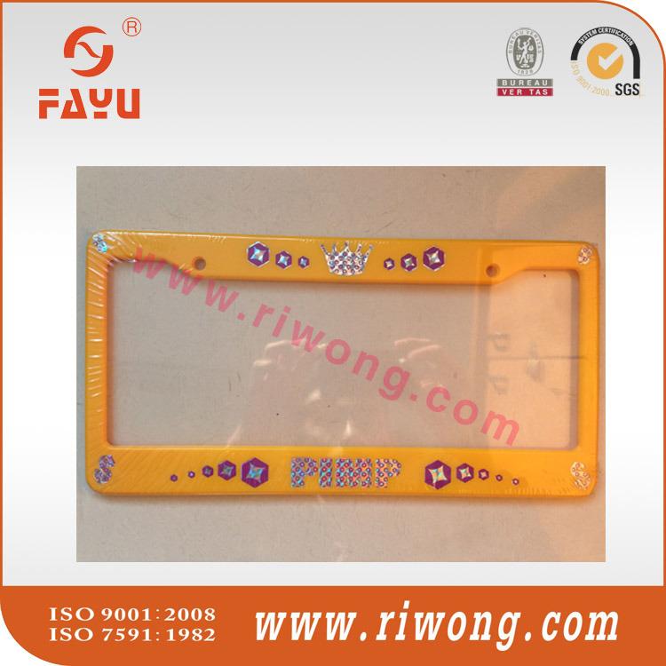 License Plate Frame Custom