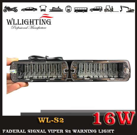 Emergency S2 LED Car Windshield Visor Warning Light