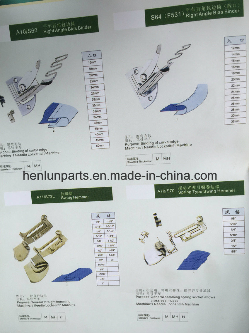 High Quality of Sewing Machine Part for Folder Binder (A10)