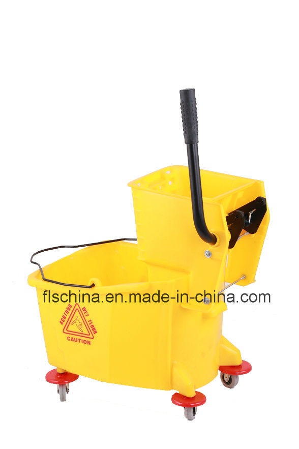32L Plastic Hand Mop Wringer with Wheels
