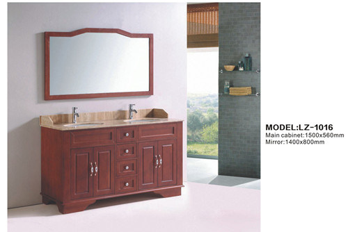 Antique Style Hand Painted Free Standing Bathroom Furniture Solid Wood Oak Material Modern Bathroom