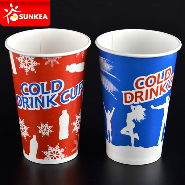 Printed Paper Big Cold Cola Cup