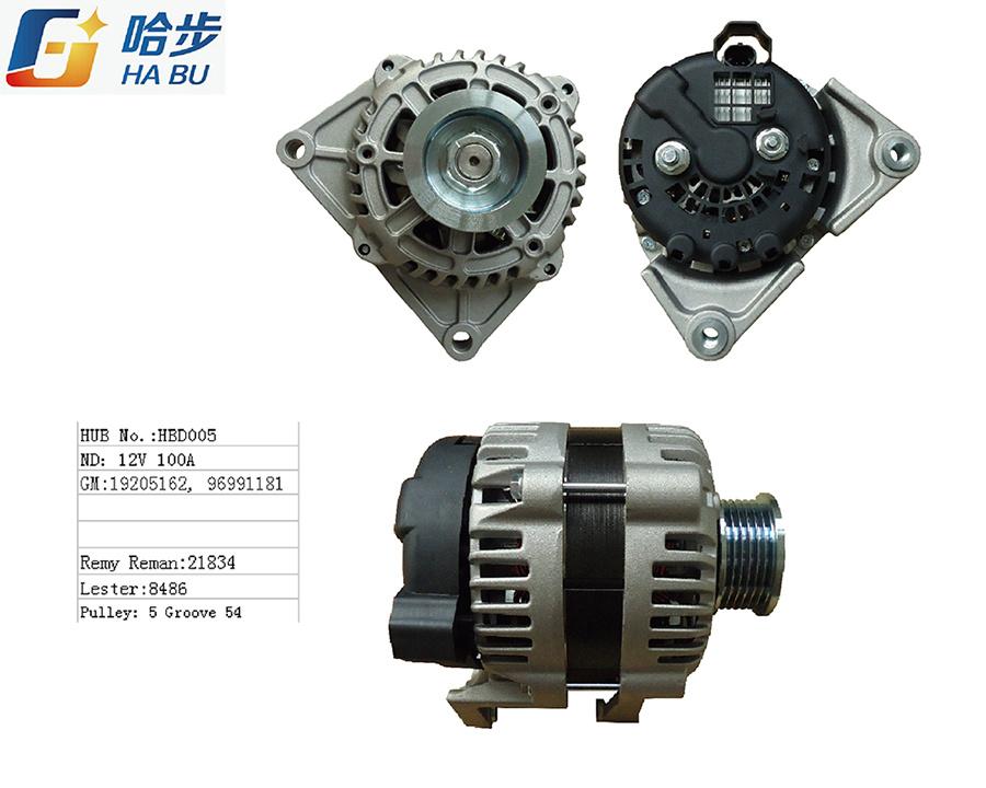 Auto / AC Alternator for GM 19205162, 96991181, Lester: 8486