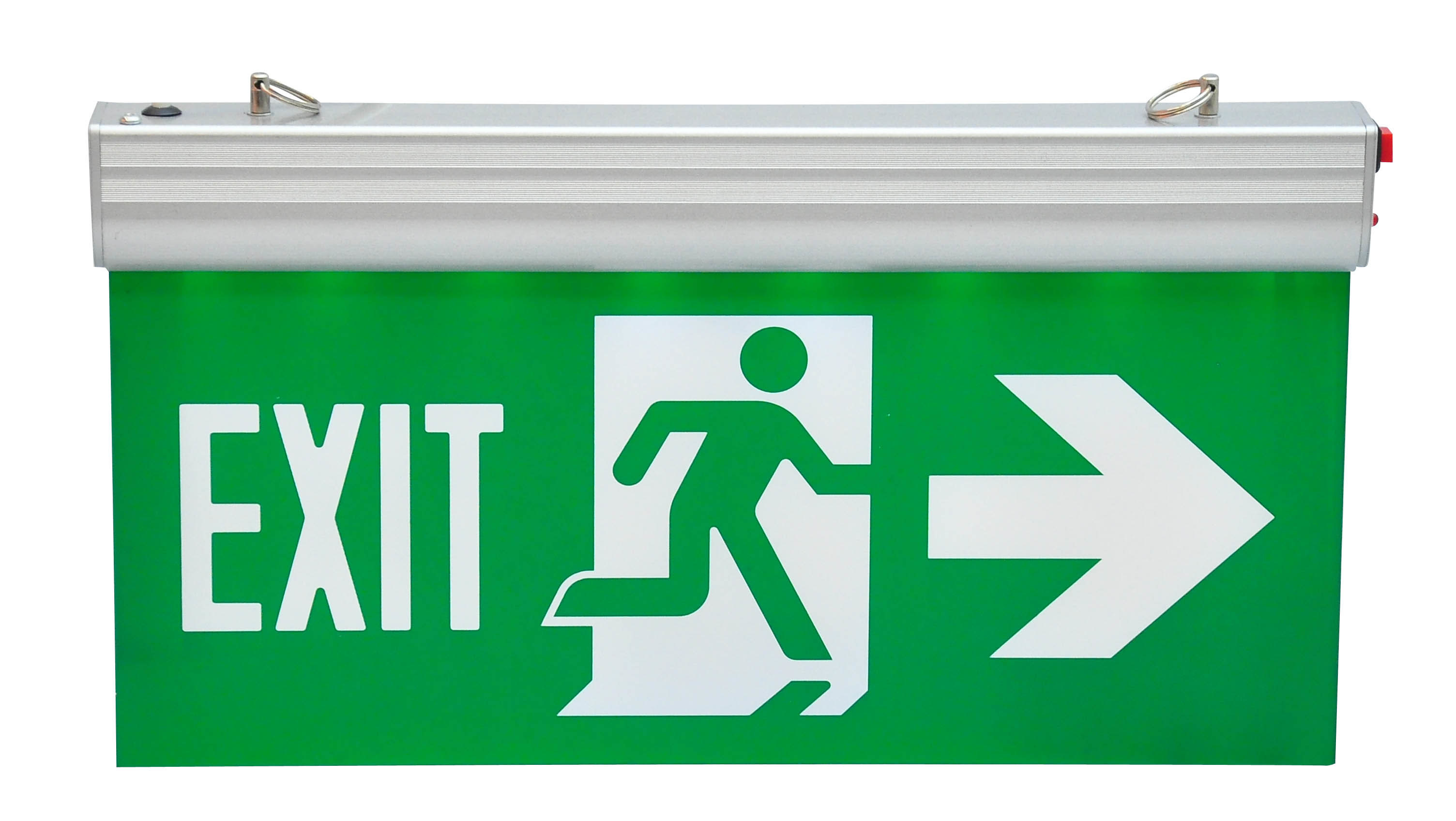 Hanging Type Edge-Lit Rechargeable Battery Operated Running Man Exit Sign