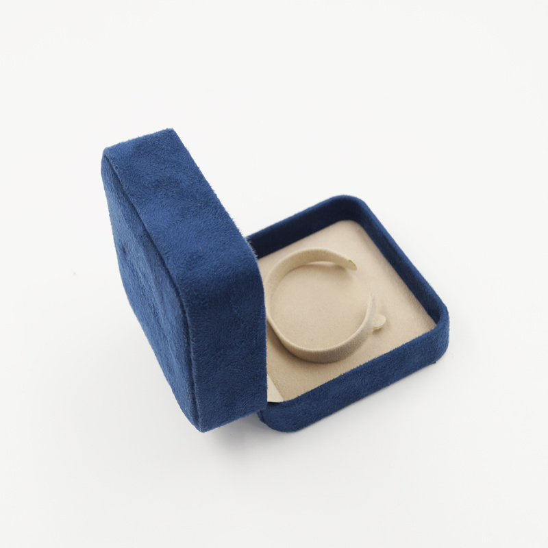 Custom Logo Printed Velvet Gift Jewelry Display Box (J92-CX)