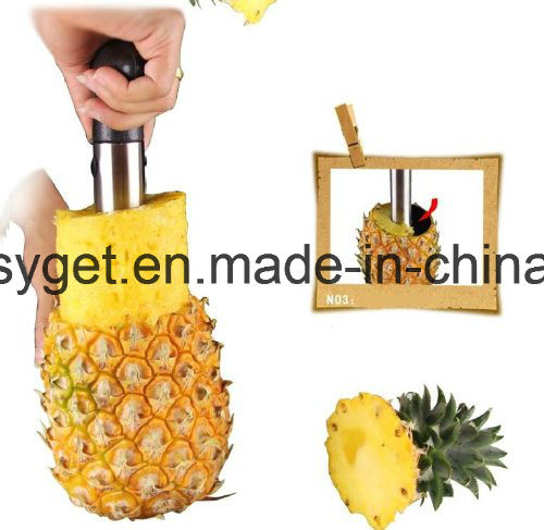 Stainless Steel Pineapple Peeler, Pineapple Corer, Pineapple Slicer - All in One Kitchen Gadget Esg10153