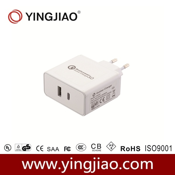 24W USB Quick Charger with Type C