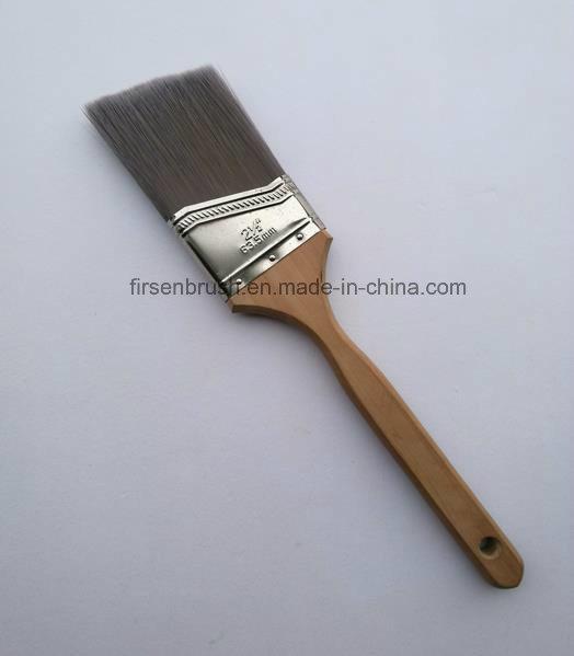 Angled Cut Paint Brush with Long Sash Hardwood Handle in Us Market