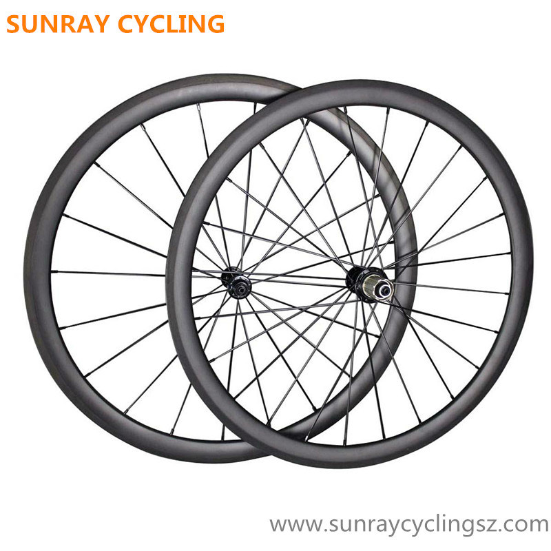 Light Weight 38mm Depth Carbon Road Racing Wheels