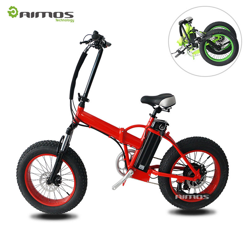 "20"" Fat Tire Folded Electric Bike with Rear Gear Motor"