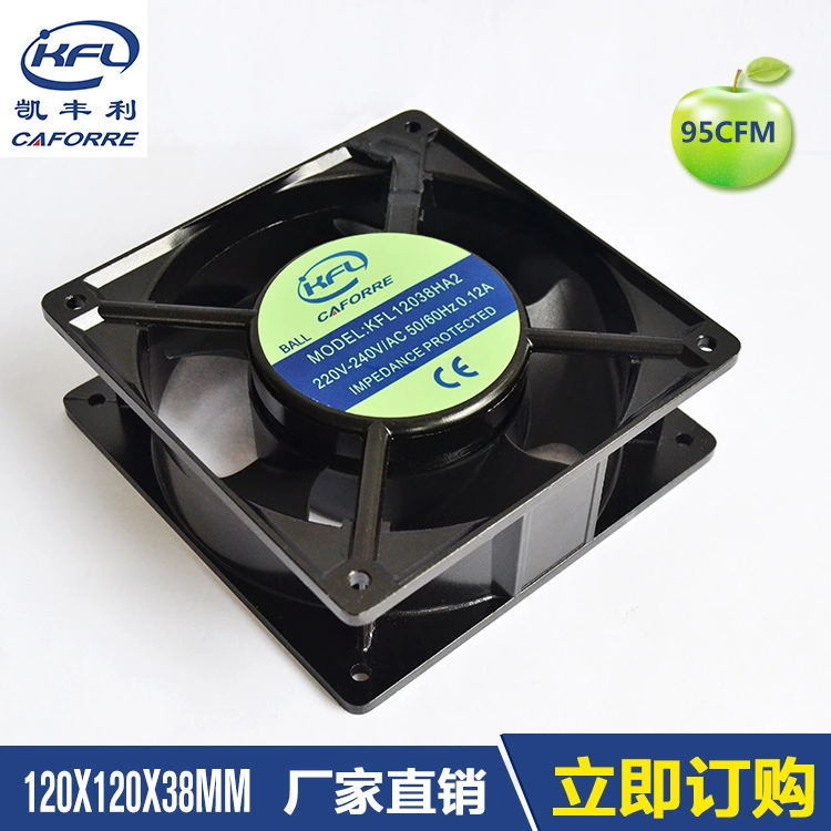 Kfl12038 110V 220V Big Air Flow AC Cooling Fan