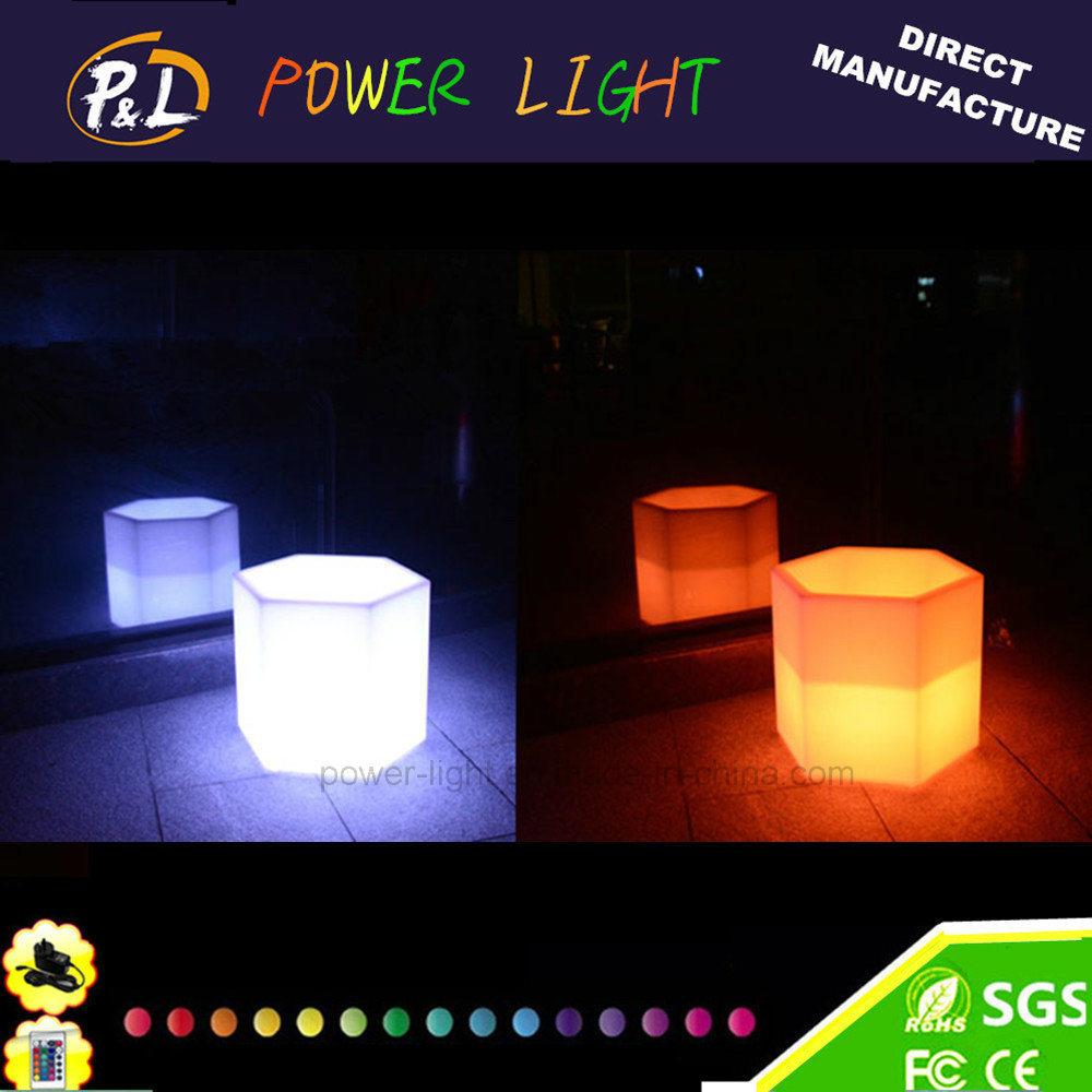 Hotel&Home Furniture Plastic Colorful LED Illuminated Flower Pot