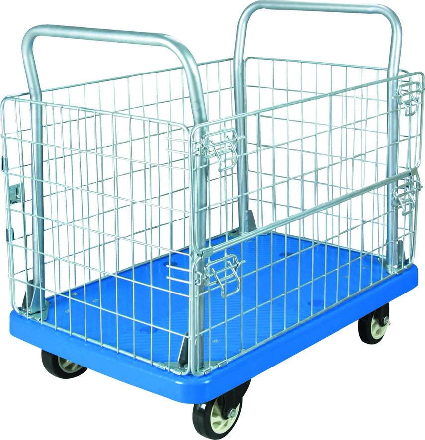 300kg Mesh Plastic Trolley Material Turnover Cart