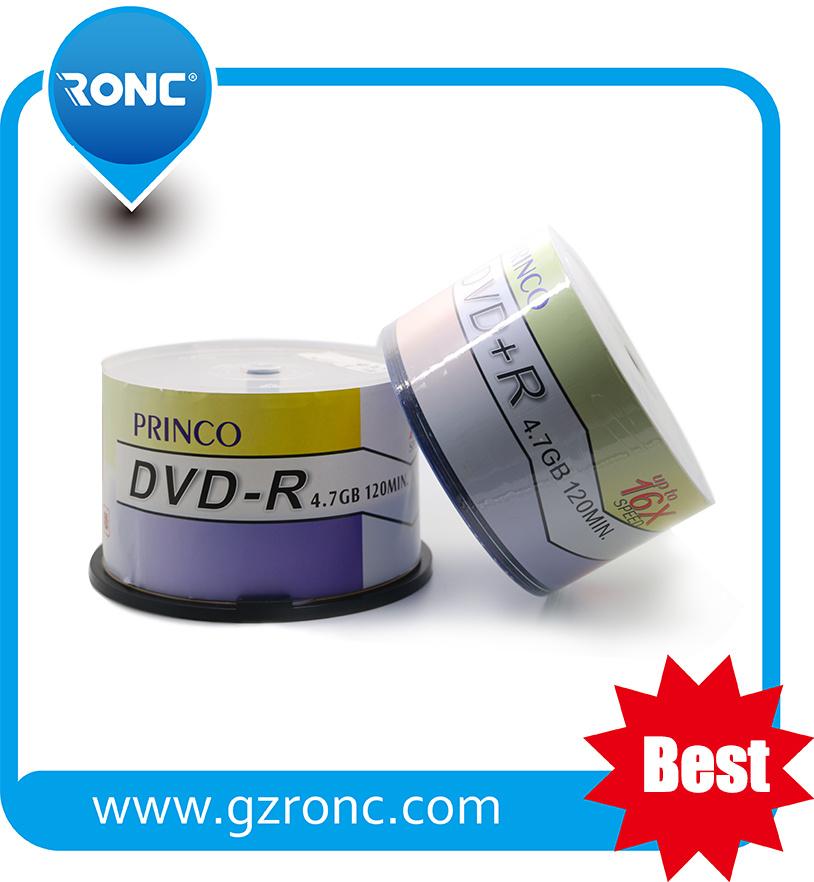 Good Quality Virgin Material 16X 4.7GB Blank DVD-R