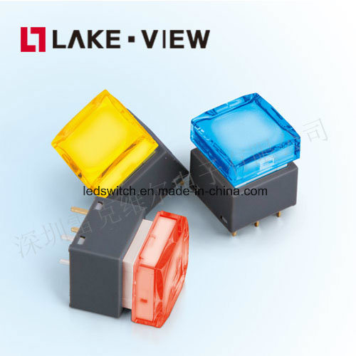 Lead Free 500mA 25V DC LED Illuminated Pushbutton Switch