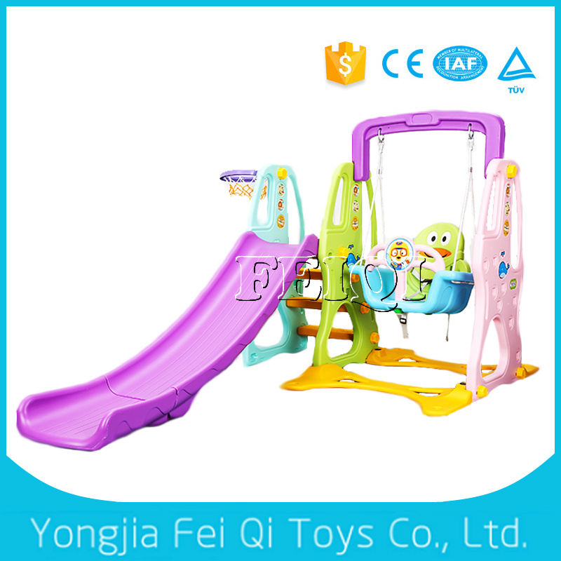 Indoor Playground Plastic Slide and Swing Kids Toy C Series