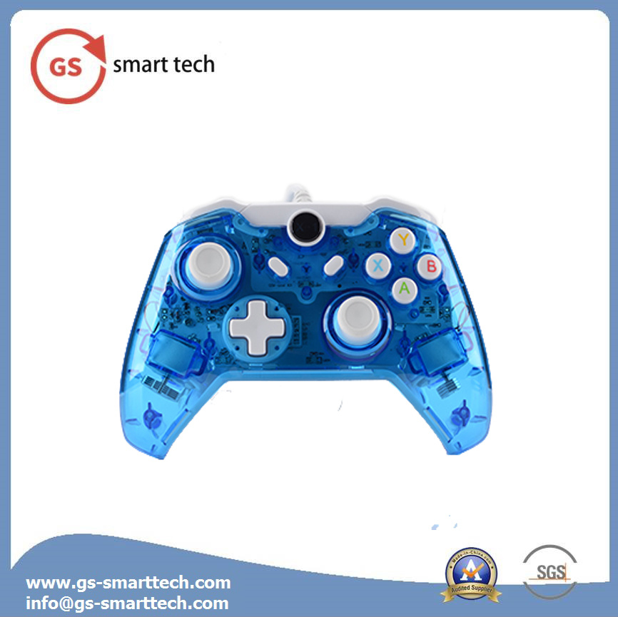 Double Vibration Wireless Transparent Flash Game Controller for xBox One