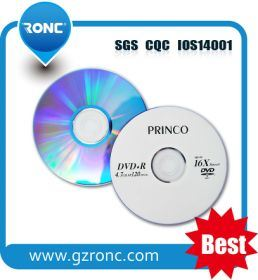 Blank Princo DVD Disc 4.7GB 120mis with 50PCS Shrink Package