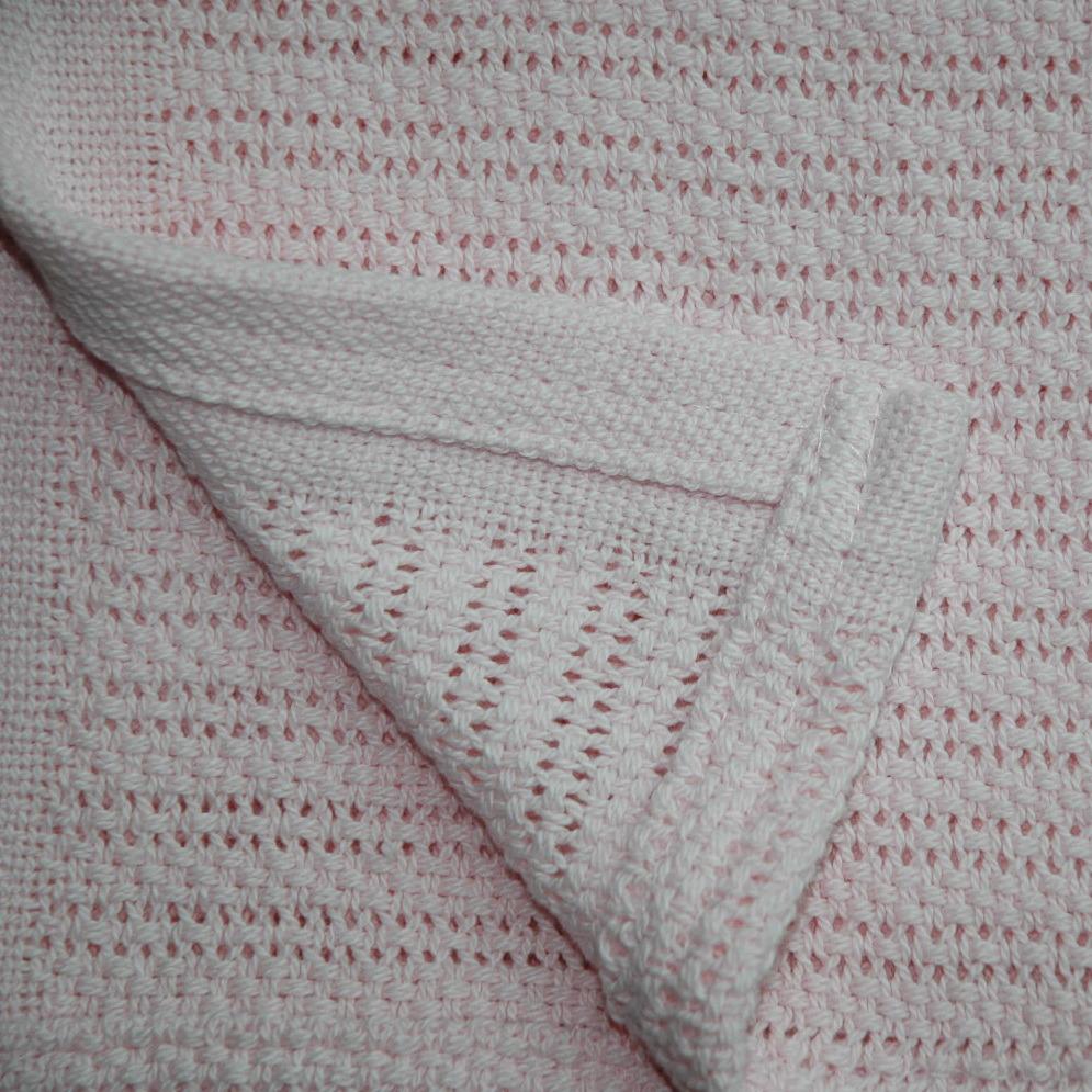 Soft 100% Ring Spun Cotton Cellular Baby Blanket