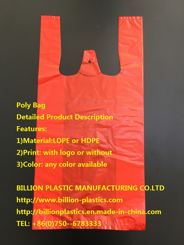 HDPE T-Shirt Bag Vest Bag