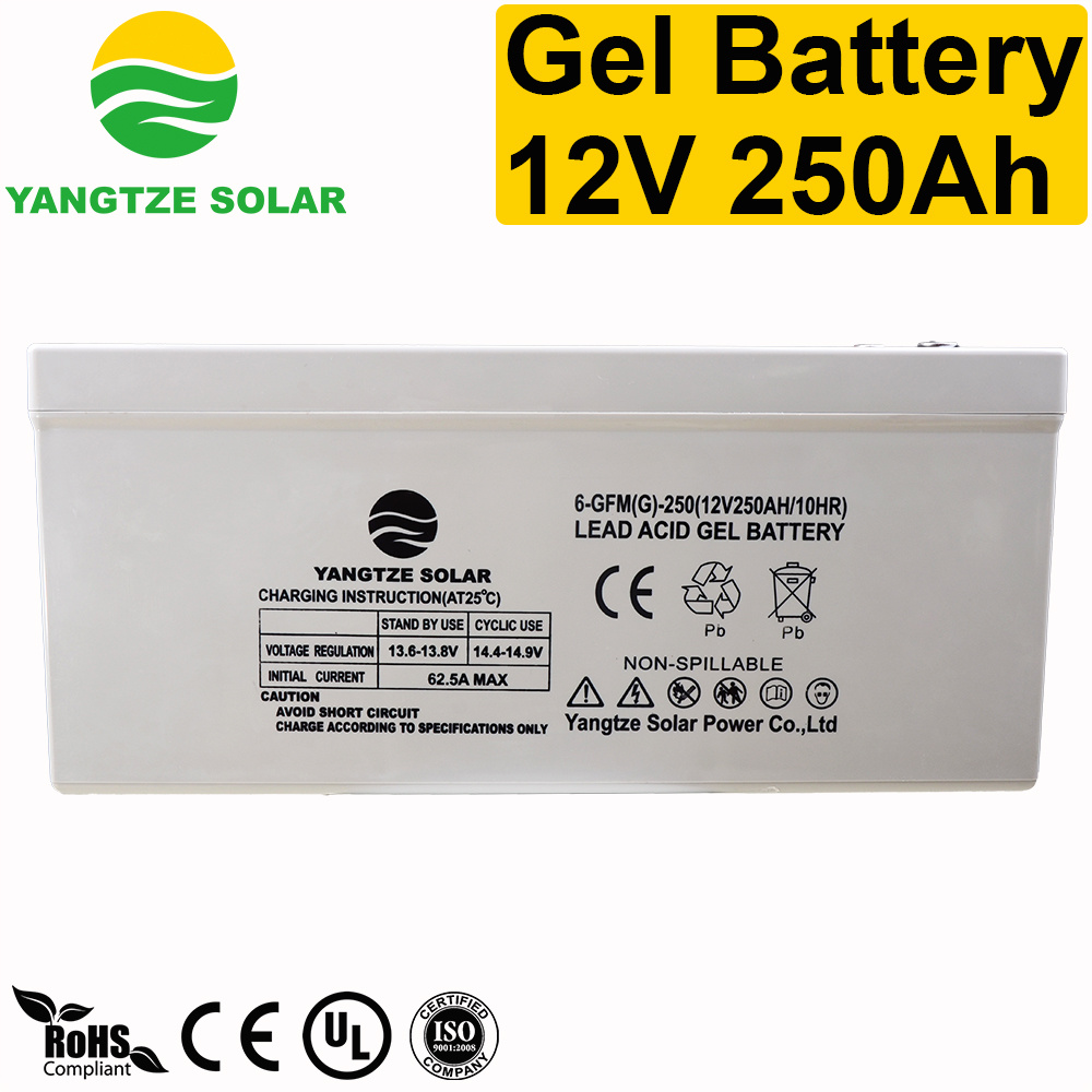 250ah 12V Rechargeable Gel Deep Cycle Battery