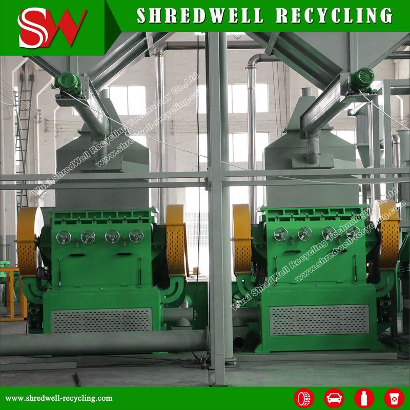 90 Kw Rubber Granulator for Making Rubber Crumb