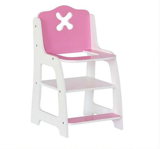 Hot Sale Wooden Doll High Chair Toy for Kids and Children