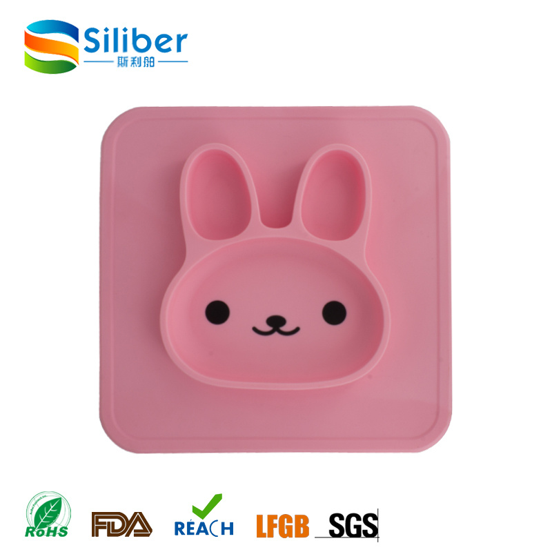 High Quality Cute Rabbit Shape Baby Placemat for Sale