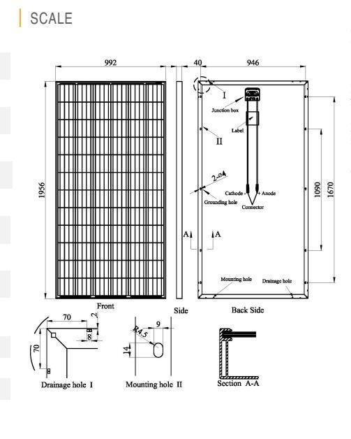 German Quality PV Solar Panel 325W Poly-Crystalline