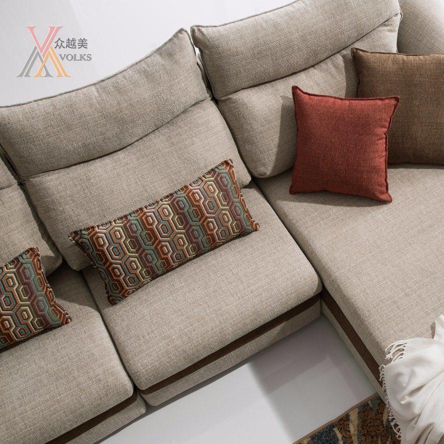 Fabric Sofa with Cushion (1602)